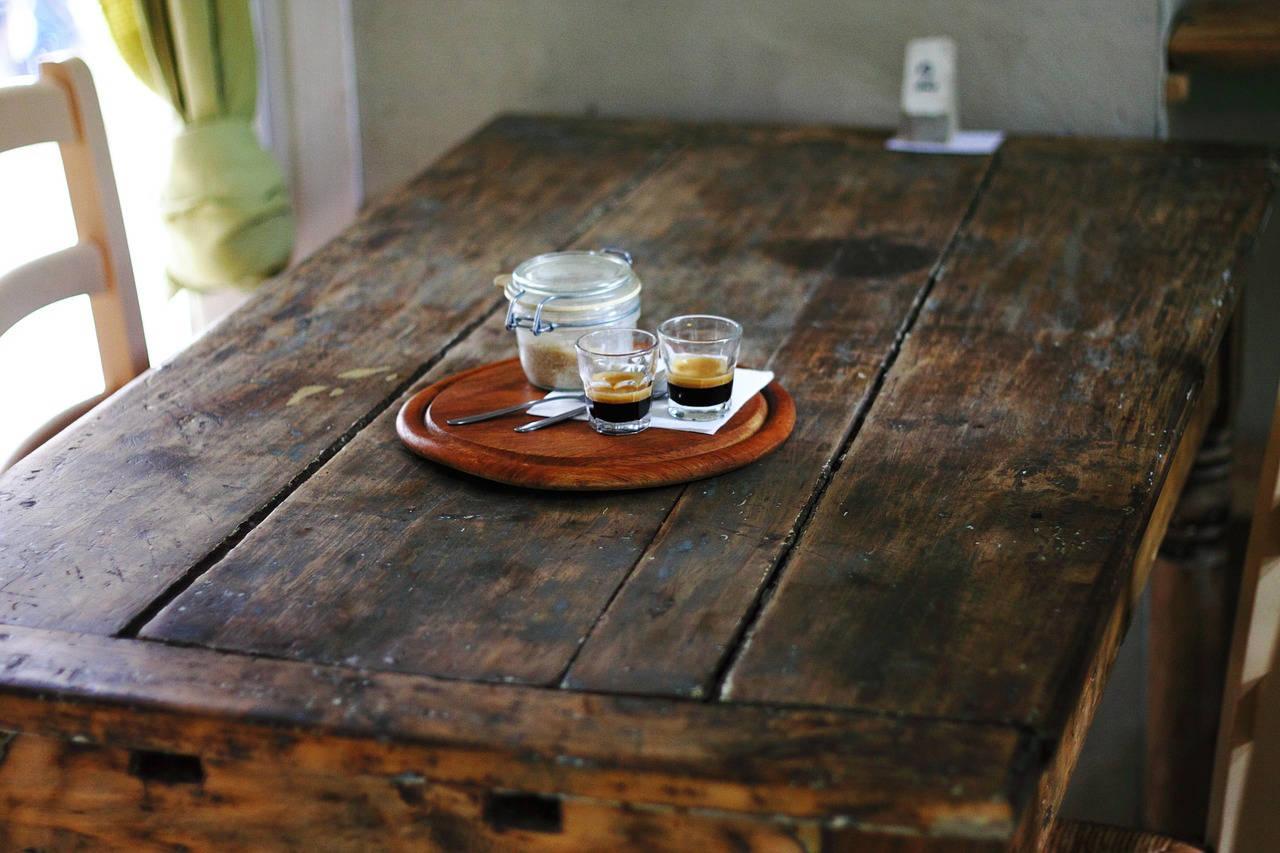 Table de cuisine en bois